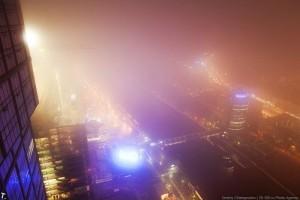 Москва Сити в облаках